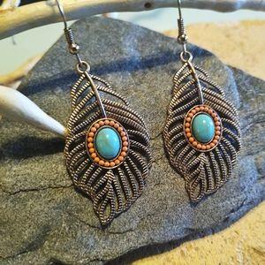 🐞2/$20 Leaf Boho Dangle Earrings